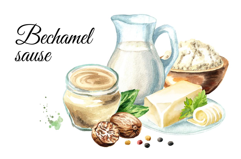 Bechamel sauce Watercolor example image 3