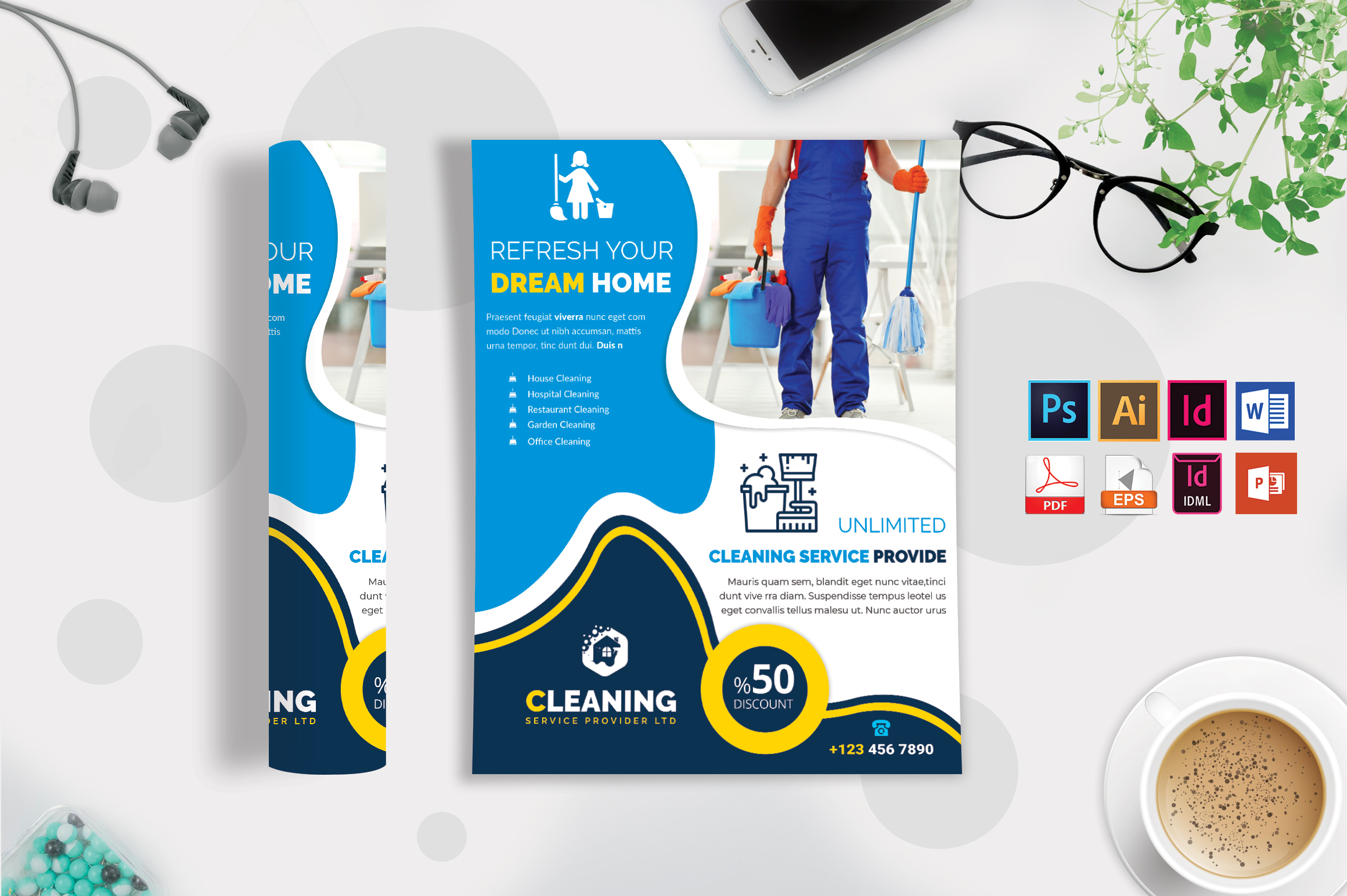 Cleaning Service Flyer Vol-05 example image 2