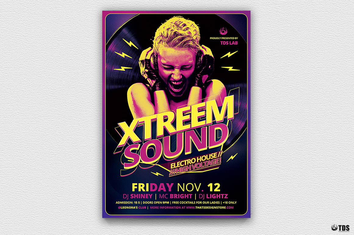 Xtreem Sound Flyer Template example image 2