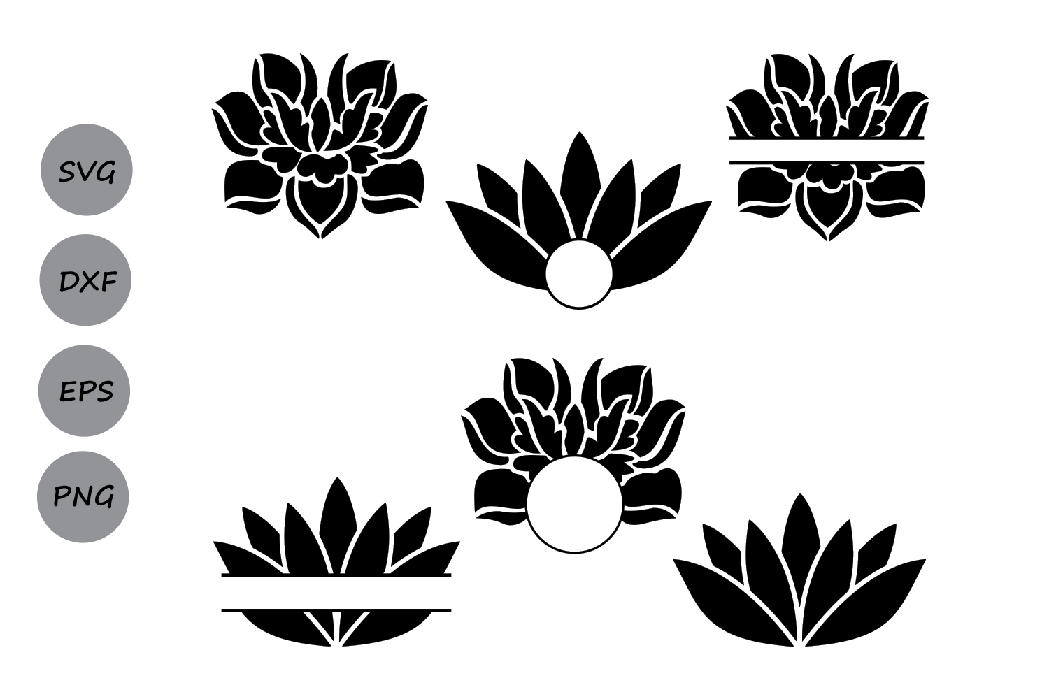 Lotus Svg Cut Files Lotus Monogram Svg Design Bundles