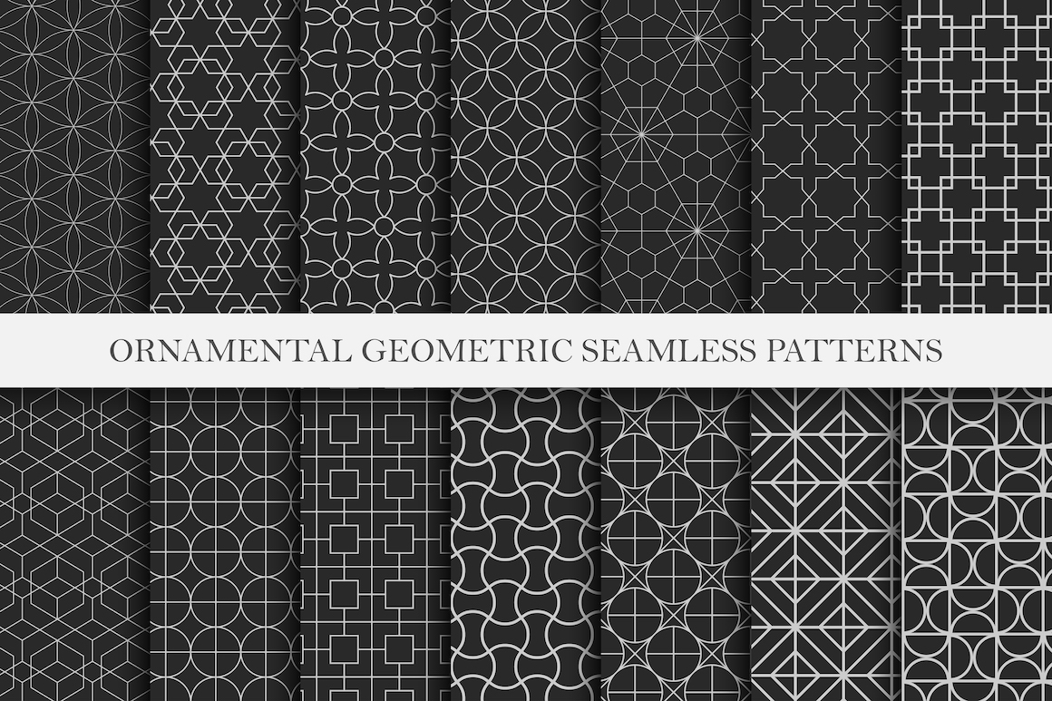 Vector seamless ornamental patterns example image 1