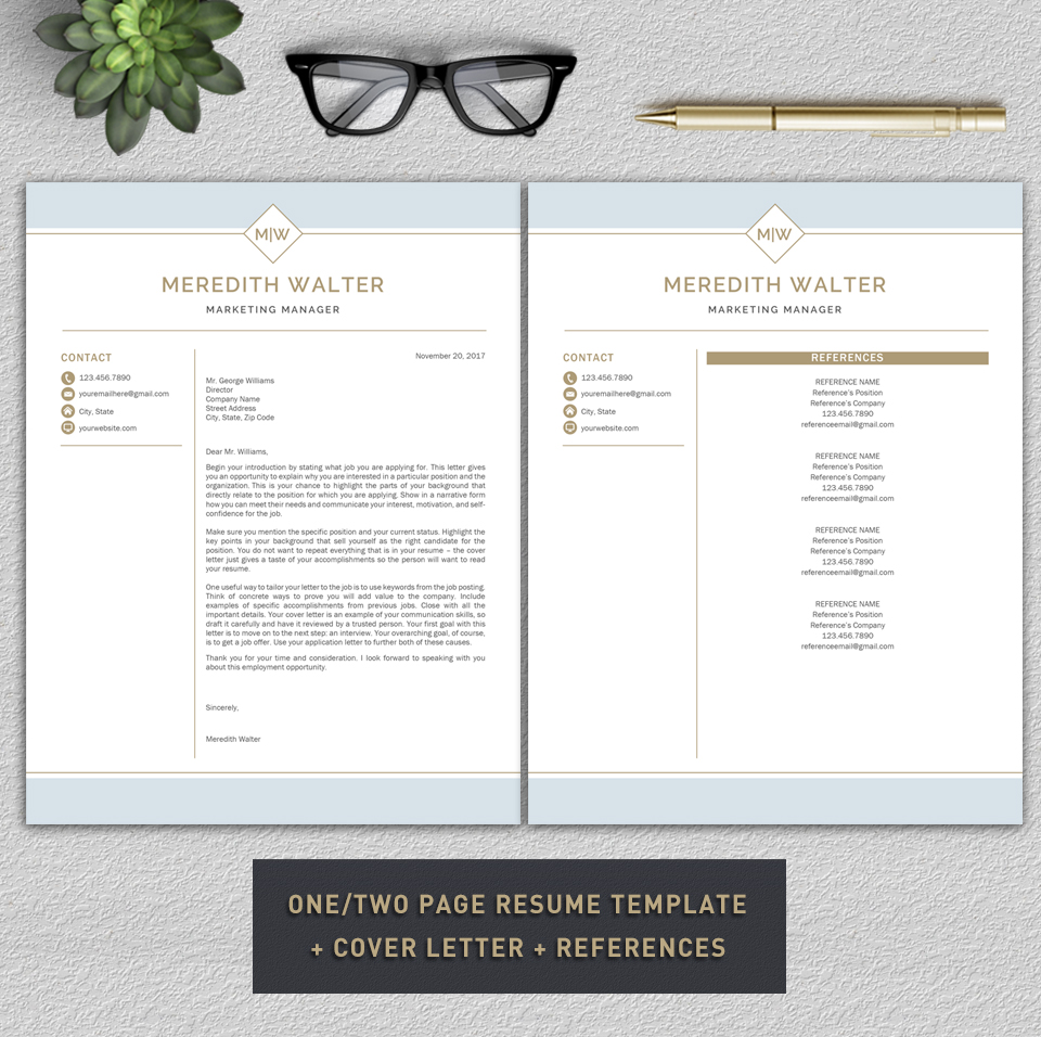 Resume Template / CV Templates, Professional Resume Template example image 7