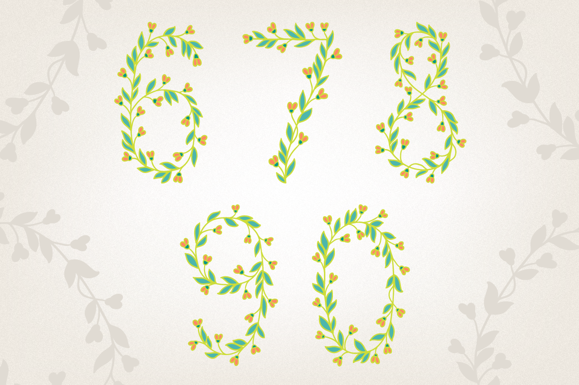 Floral Numbers example image 2