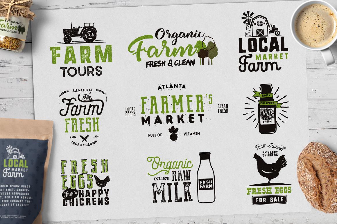 Organic Farm & Eco Food Badges example image 5