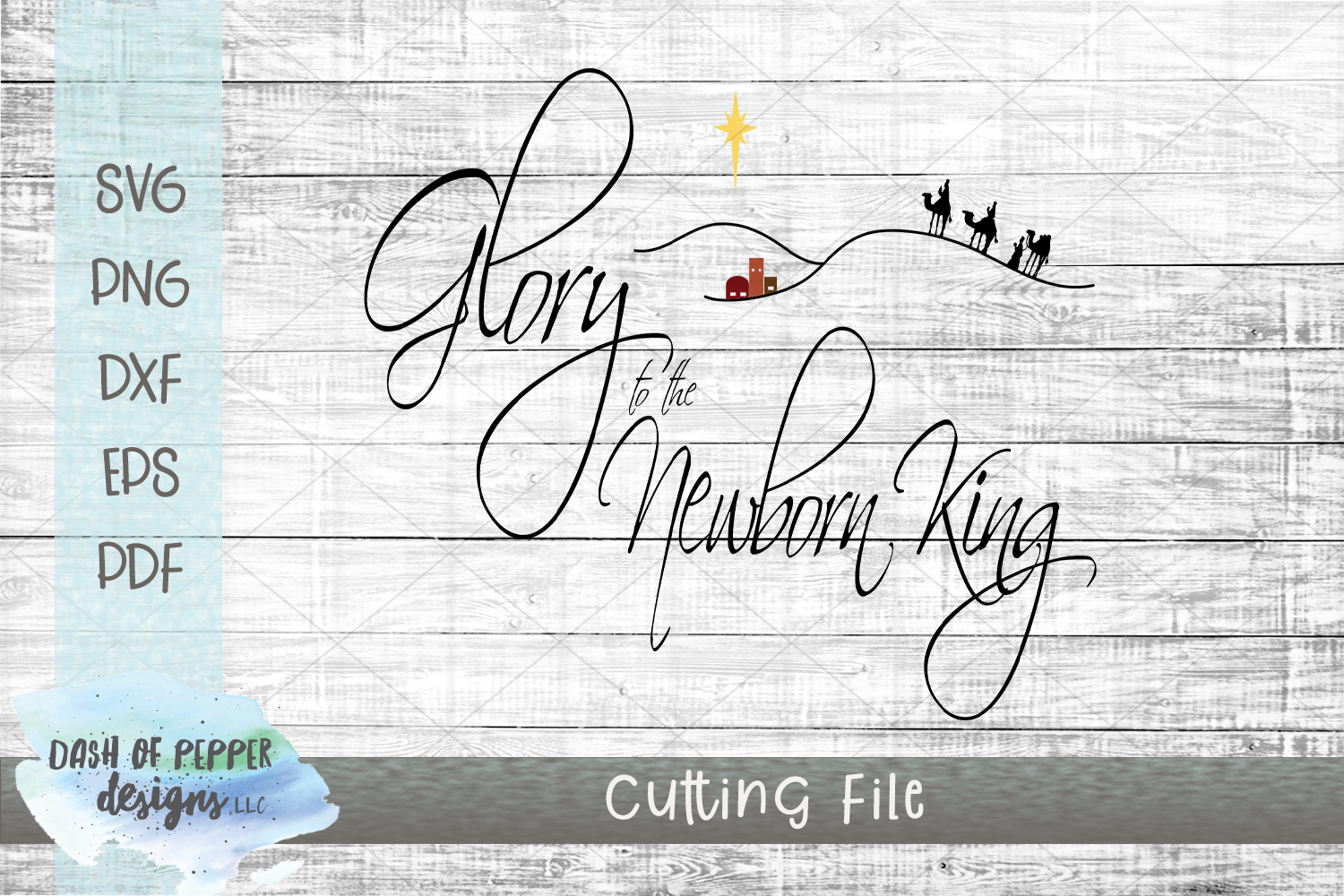 Glory to the Newborn King SVG - Christmas SVG example image 1