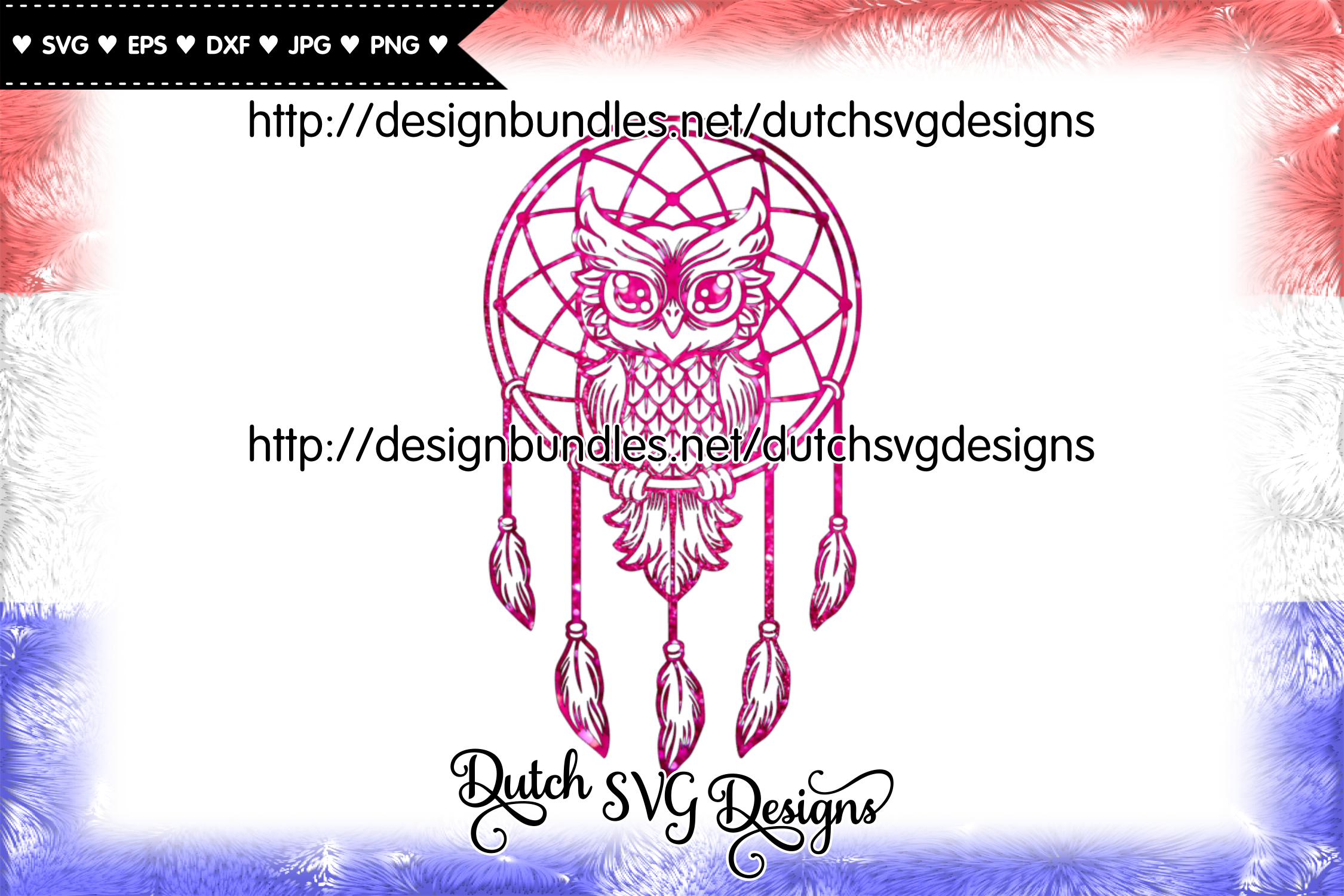 Dreamcatcher cut file with owl, dreamcatcher svg, owl svg example image 4