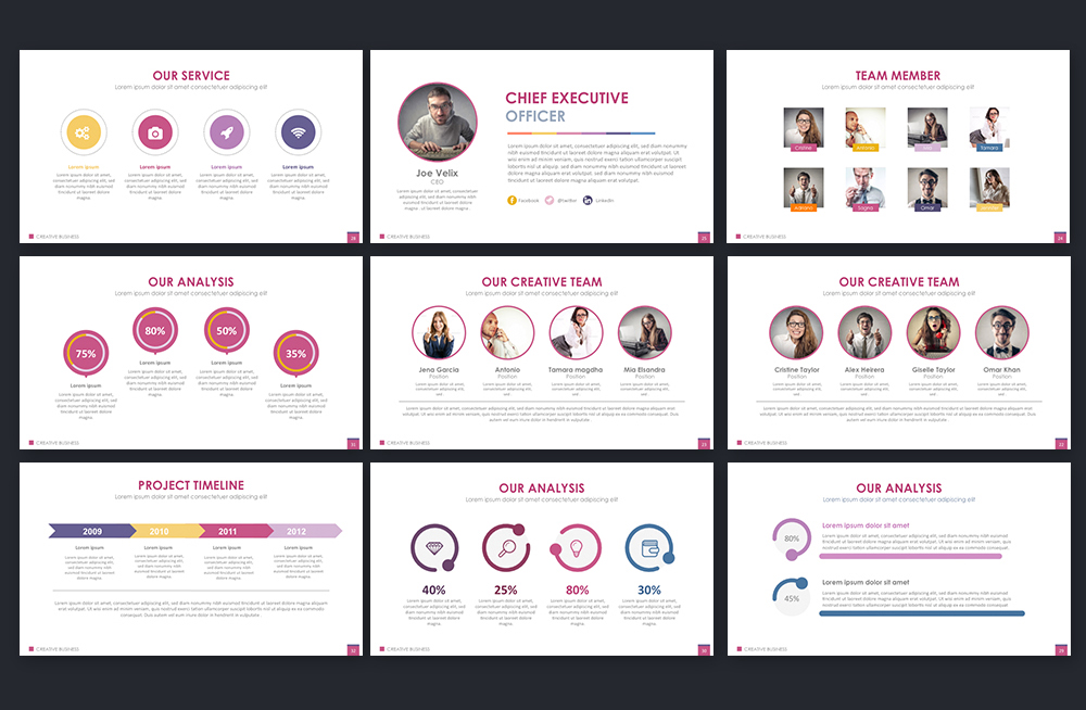 Creative Business Powerpoint Template example image 3