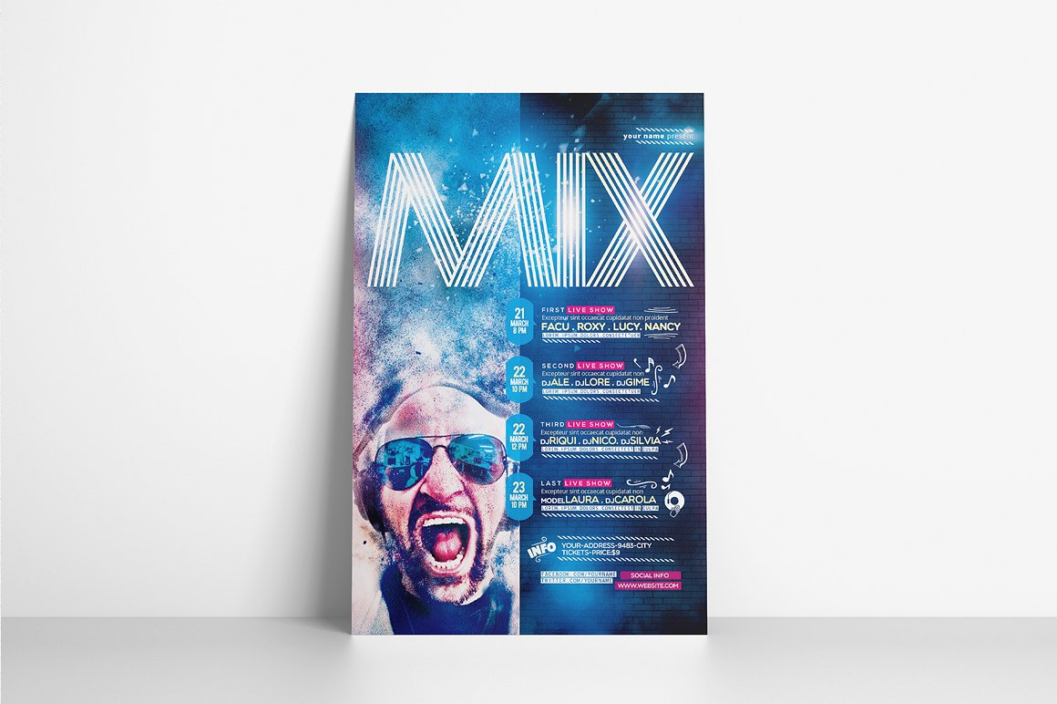 Mix Show Flyer Template example image 2