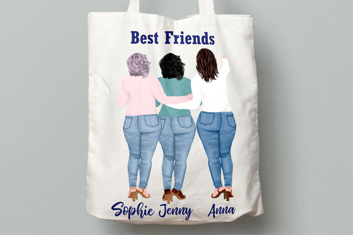 Curvy girls Plus size girls clipart Best Friends clipart example image 4