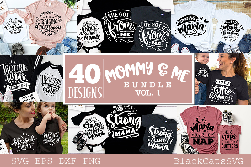 Mommy and me SVG bundle 40 designs vol 1 example image 2
