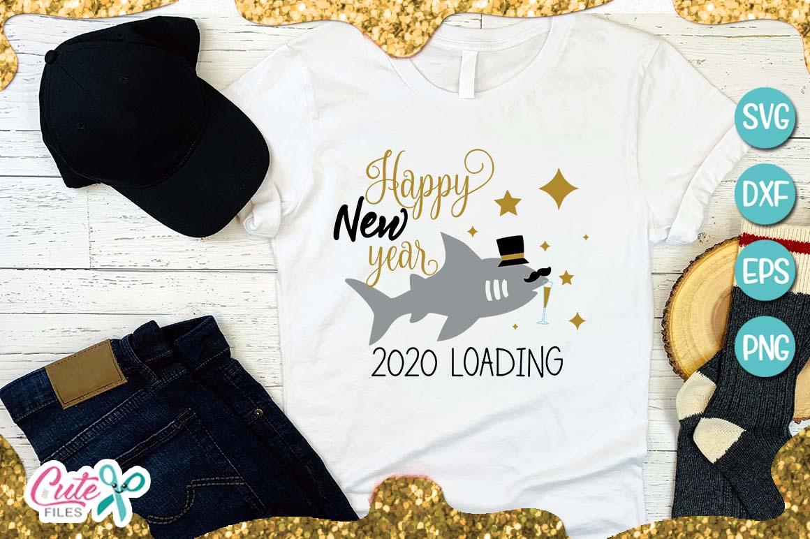 2020 loading, new year SVG for crafter example image 1