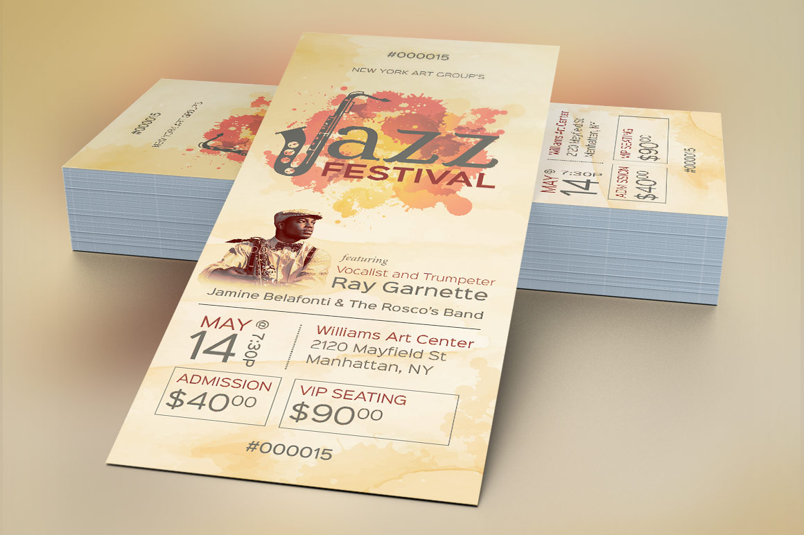 Jazz Event Ticket Template example image 3