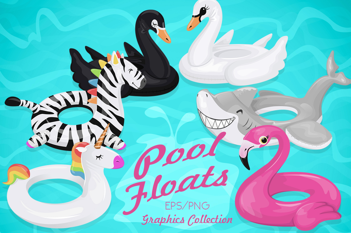 Summer Pool Floats Collection example image 1