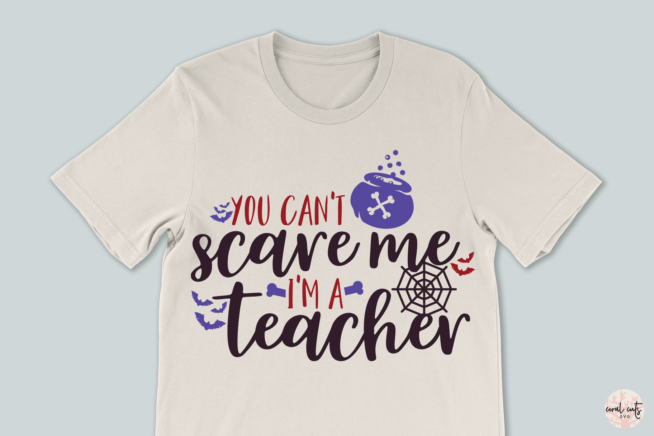 You Can't Scare Me I'm A Teacher - Halloween SvgCut Files example image 3