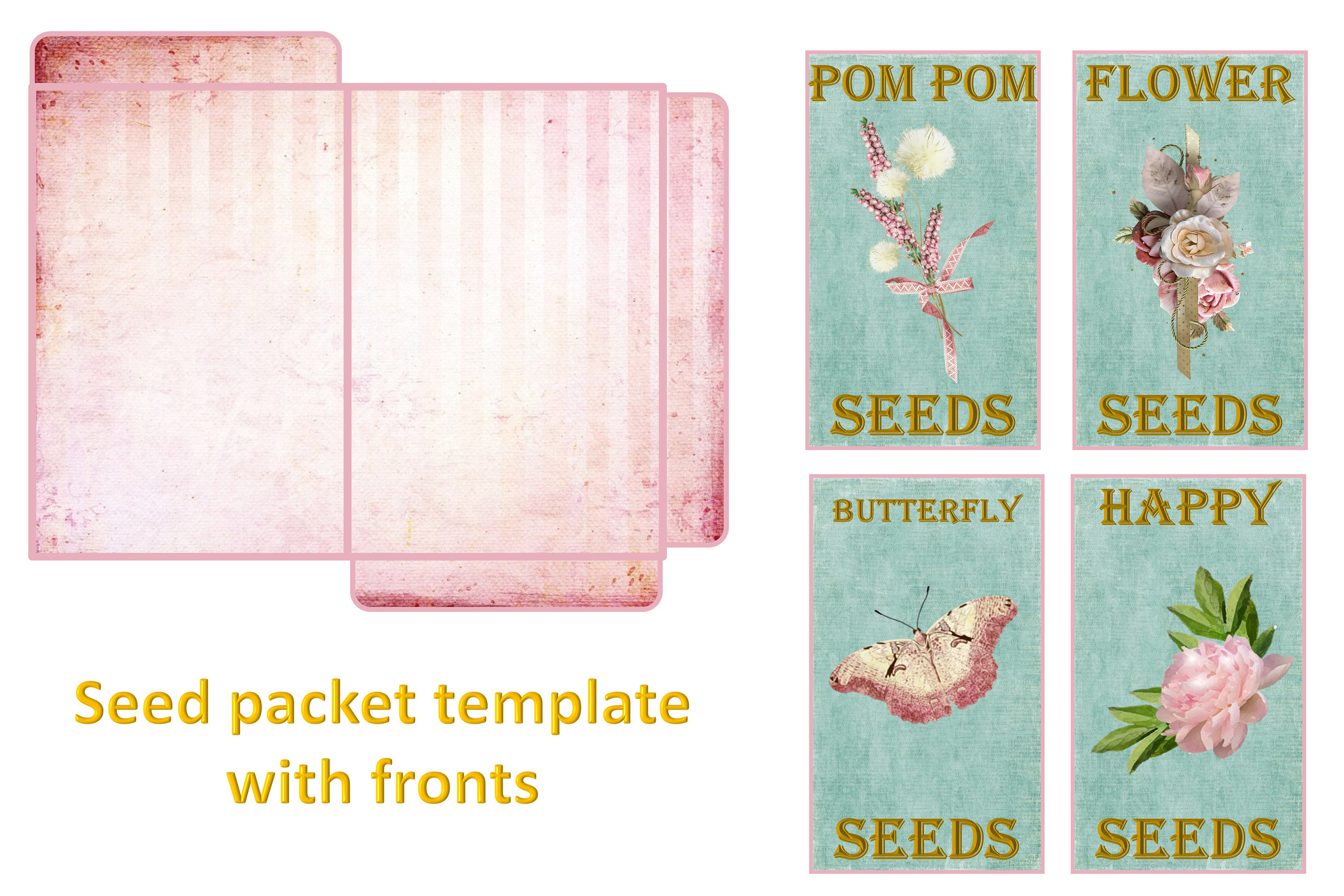 Shabby Chic Vintage backgrounds, Ephemera and Clipart Pmgs example image 9