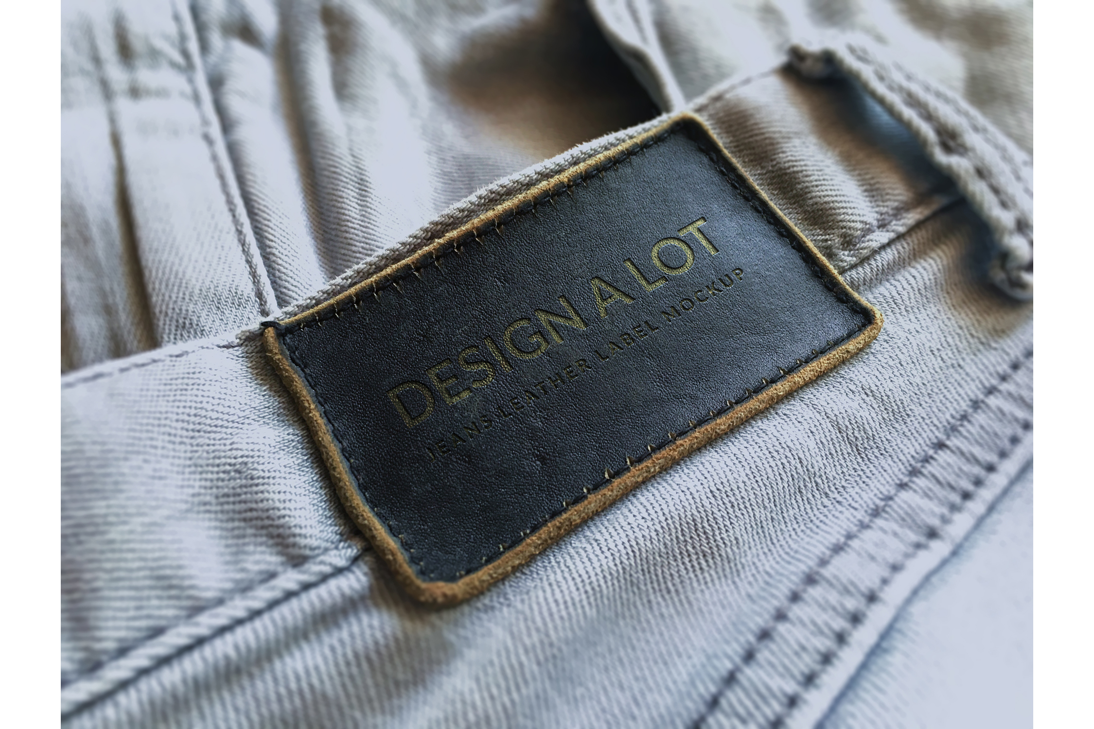 Engraved Dark Brown Leather Label example image 1