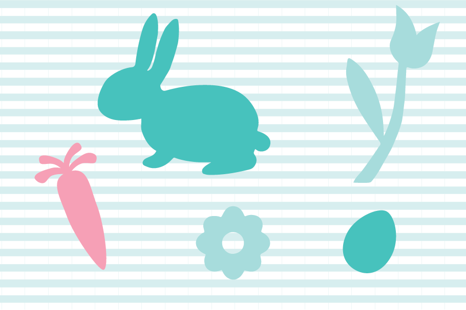 Easter Bunny SVG and Cut File Set example image 2