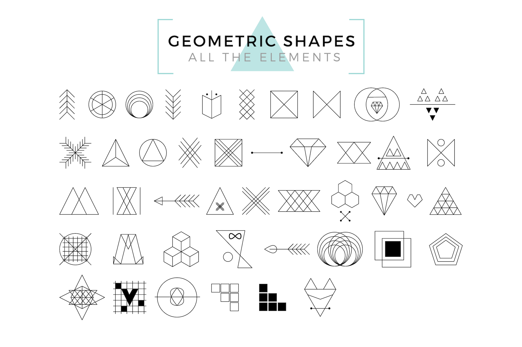 Vector Geometric Shapes & Art Logo example image 2