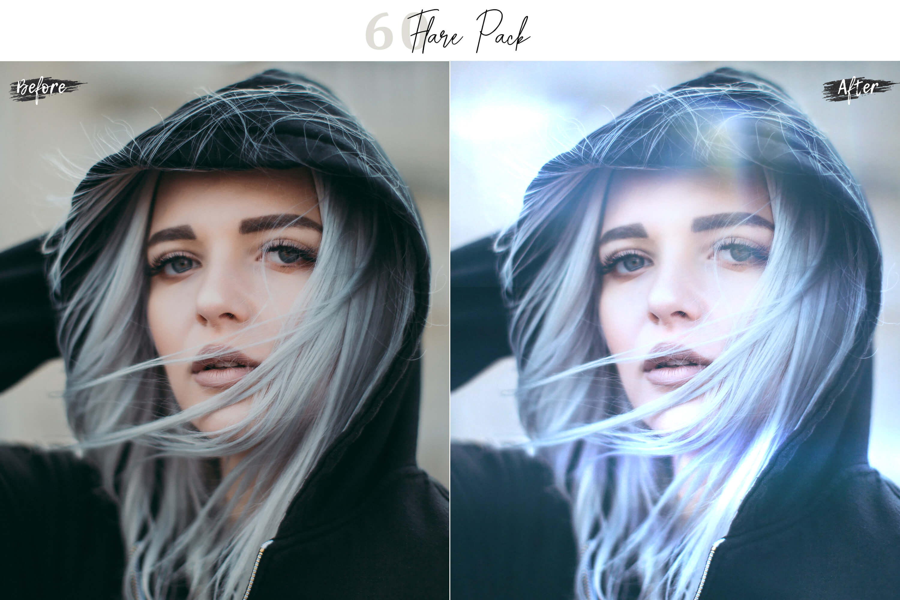 60 Flare Pack 02 lights Effect Photo Overlays example image 6
