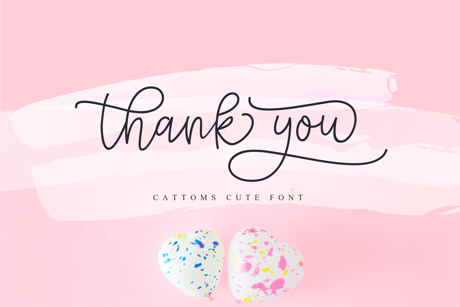 Cattoms Cute Script Fonts example image 11
