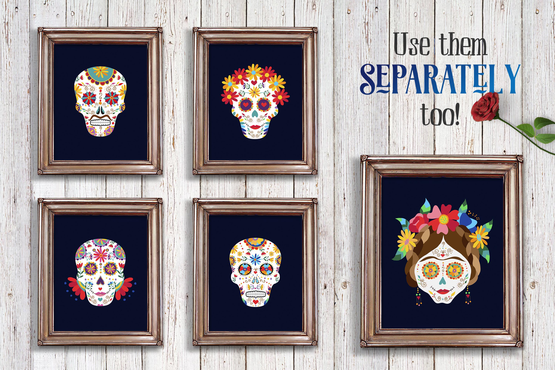 Dia de los Muertos Skull Collection example image 6