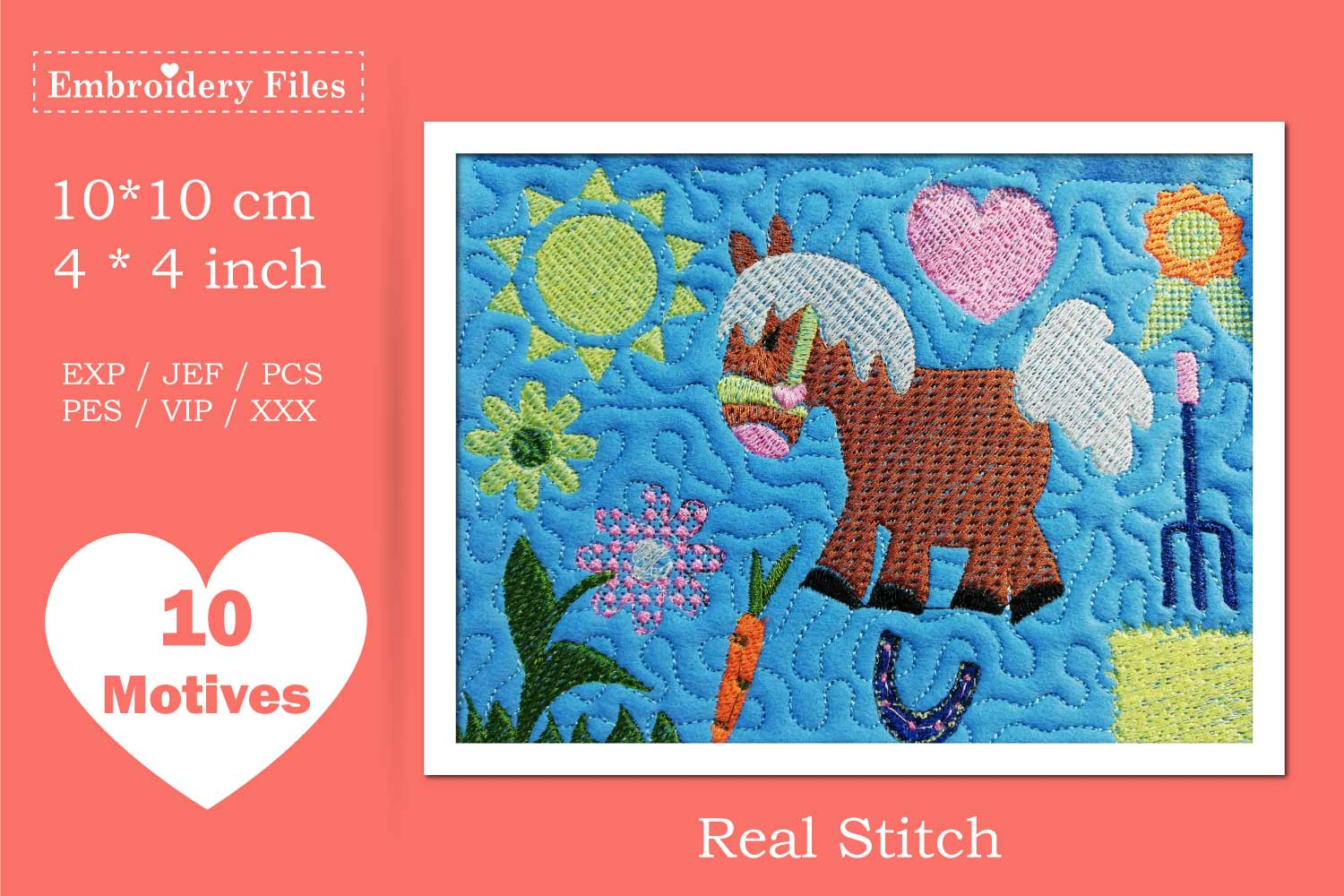 My lovely Pony - Embroidery Files - 10 Motives example image 3