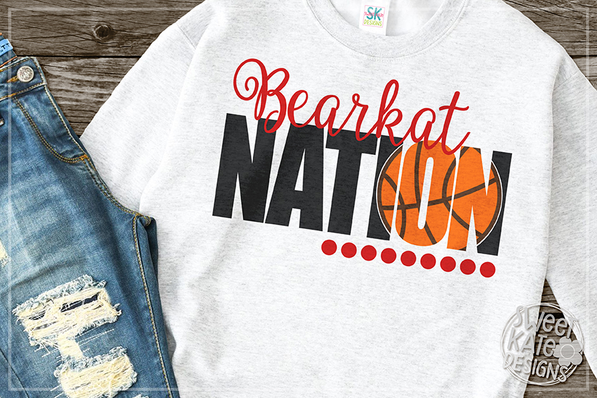 Bearkat Nation with Knockout Basketball SVG DXF EPS PNG JPG example image 1