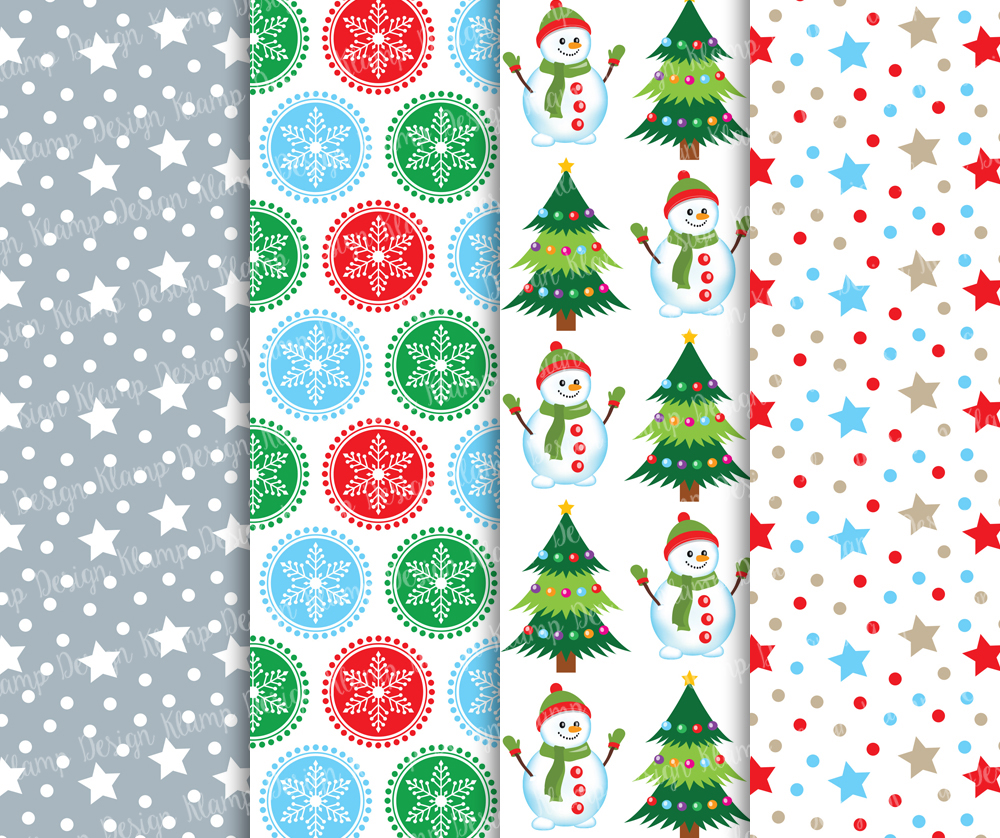 Christmas Digital Paper Pack / Christmas Background / Scrapbooking / Card Making / Patterns / Printables example image 3