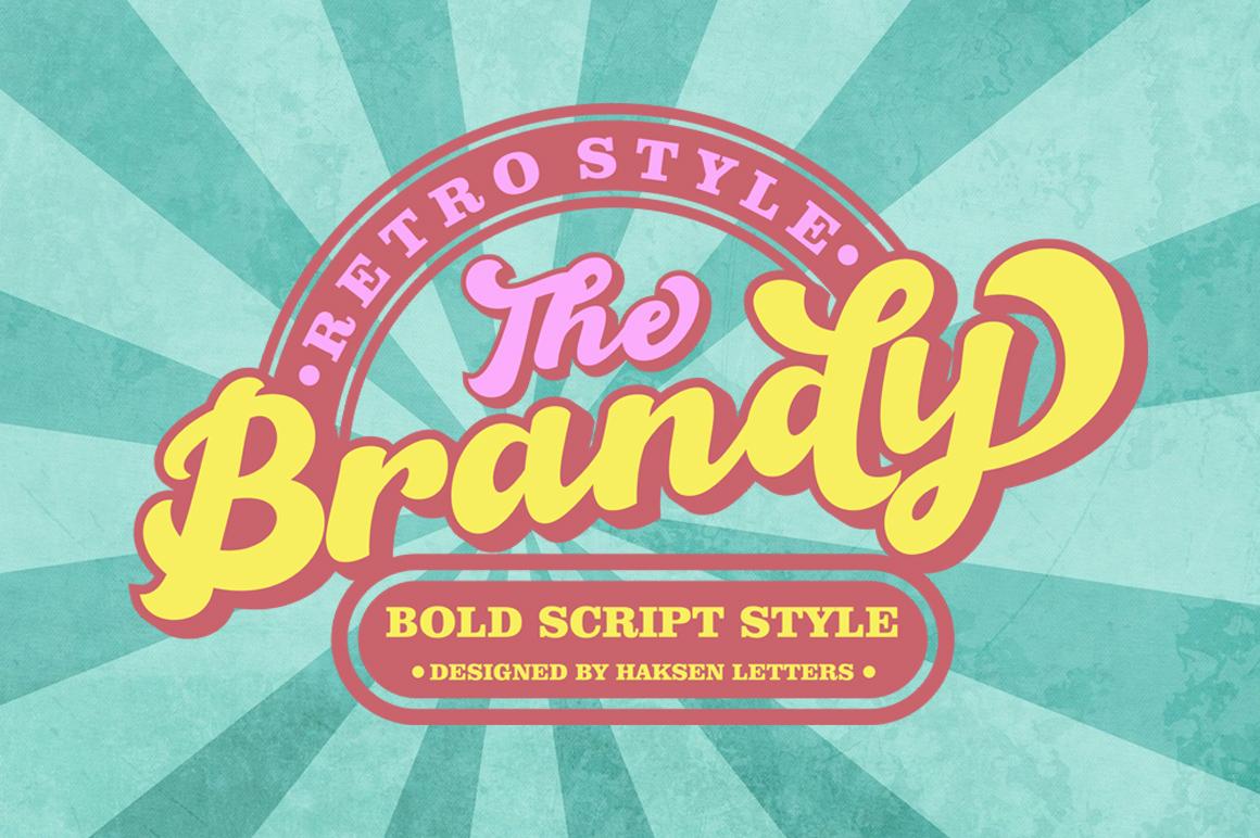 The Brandy Bold Retro Script example image 3