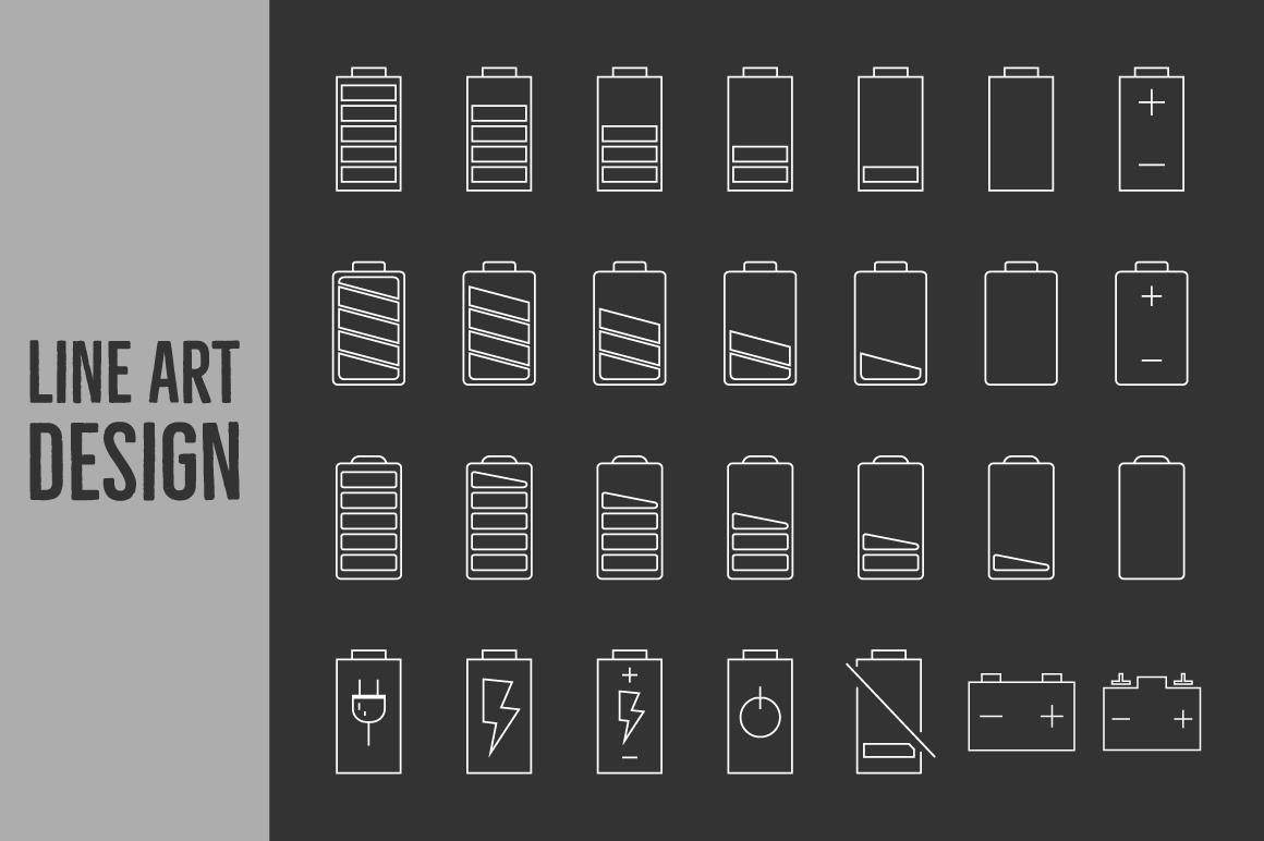Battery Level Icons example image 2