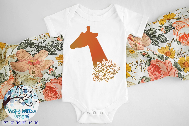 Floral Giraffe SVG | Animal SVG Cut File example image 2