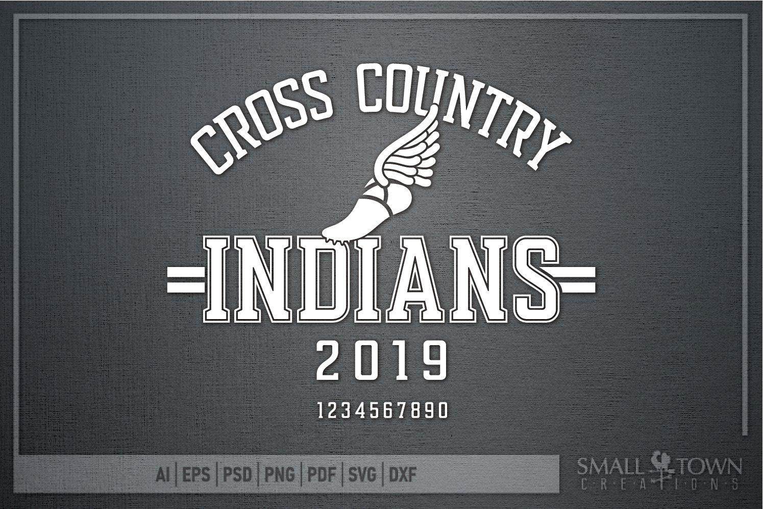Indian Cross Country, Indians mascot, PRINT, CUT, DESIGN example image 5