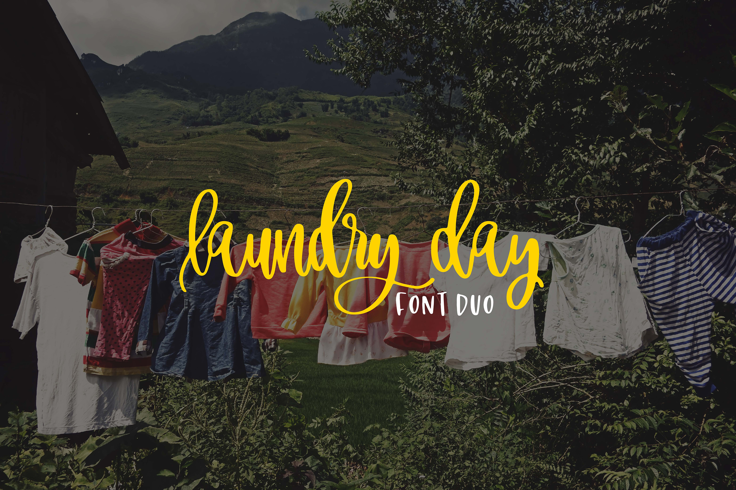 Laundry Day Font Duo example image 1