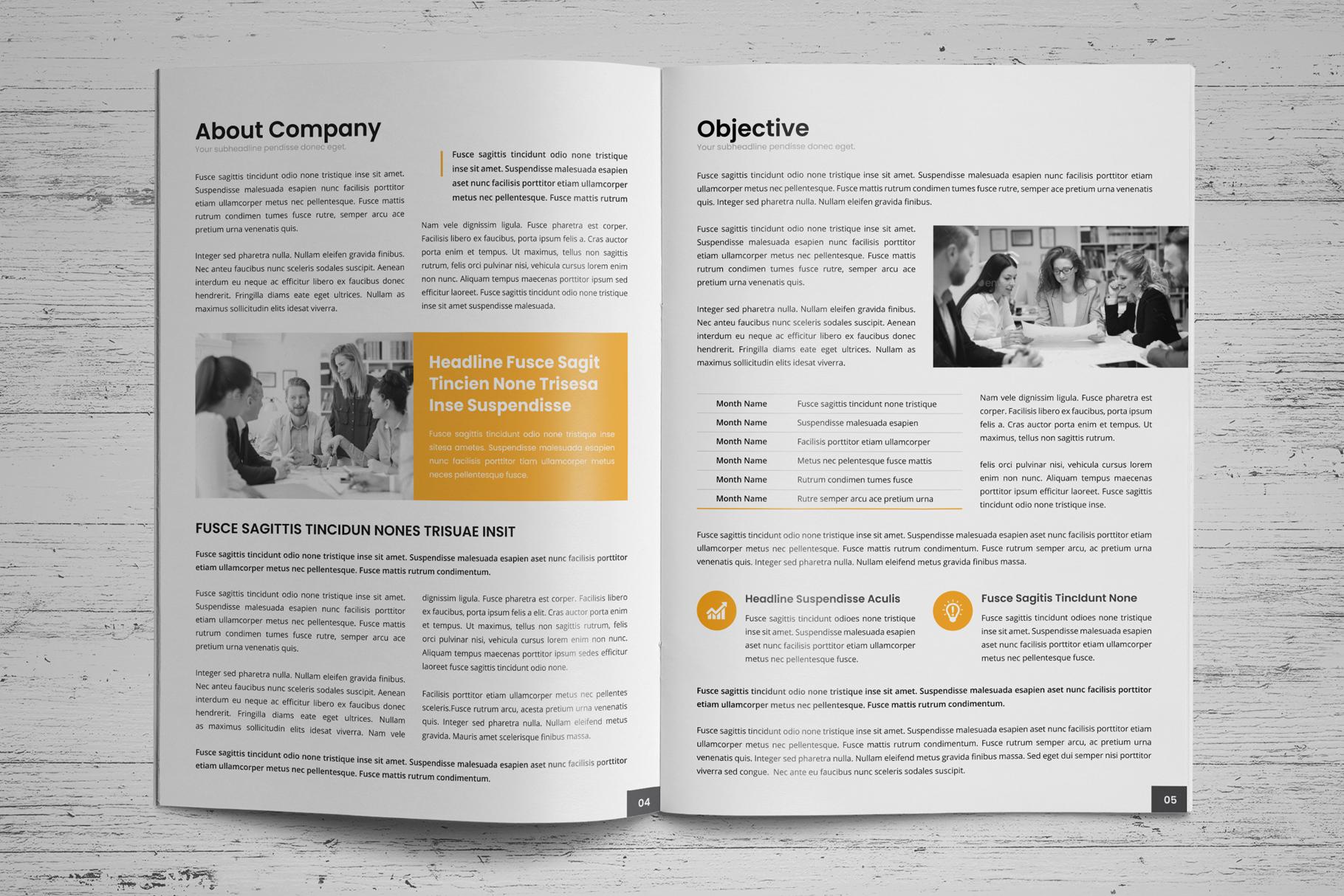 Company Profile Brochure v10 example image 3