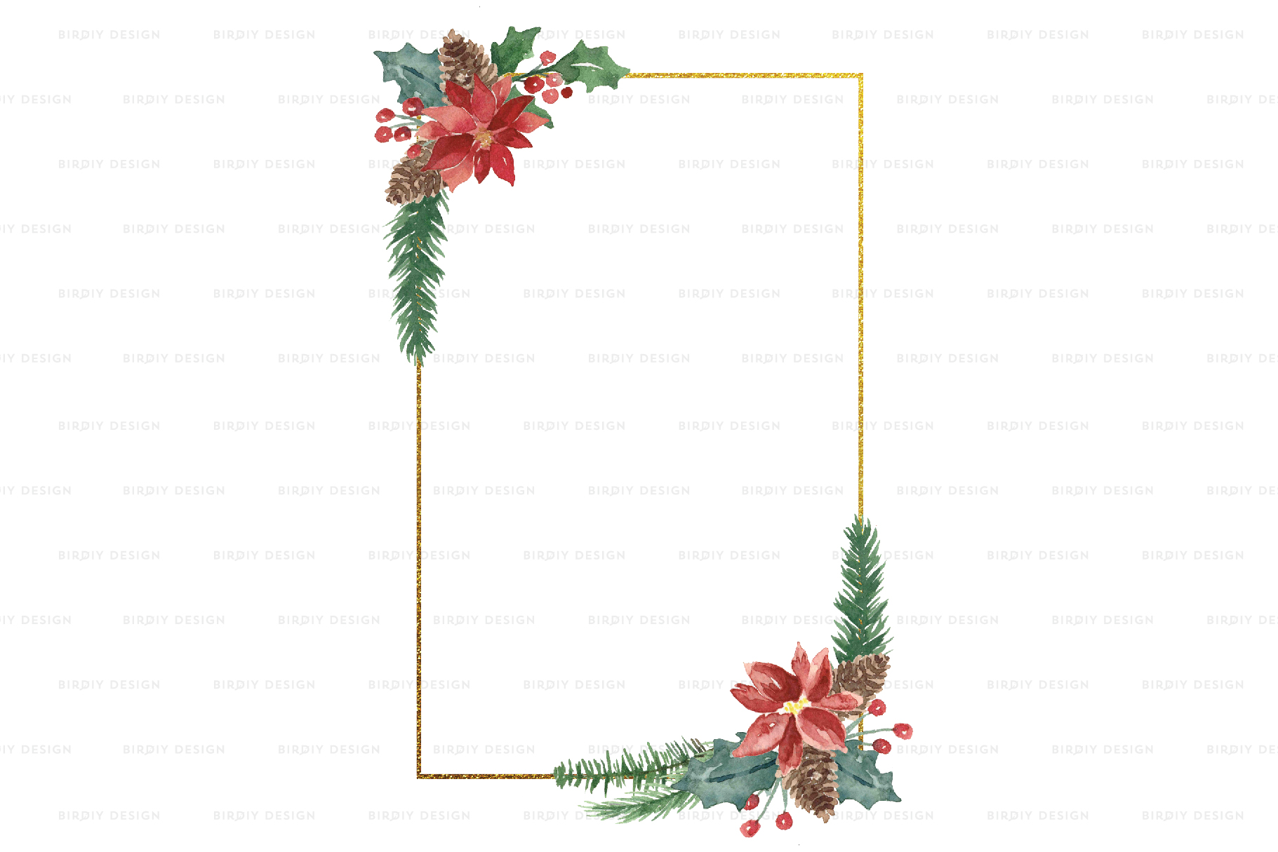 Winter Watercolor Frame Backgrounds example image 5