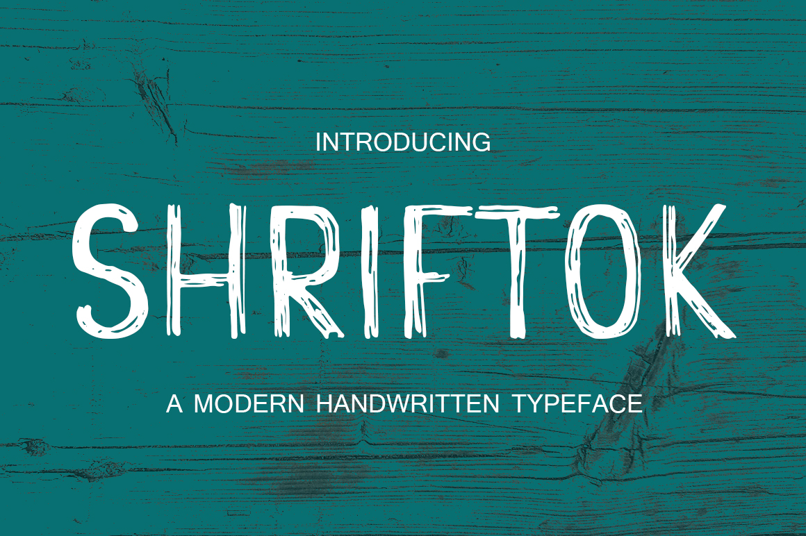 Shriftok typeface font painted by ink and pen example image 1