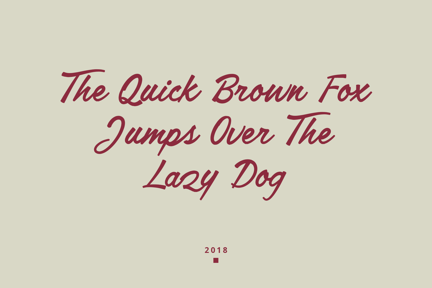 Lakeland Brush font example image 9
