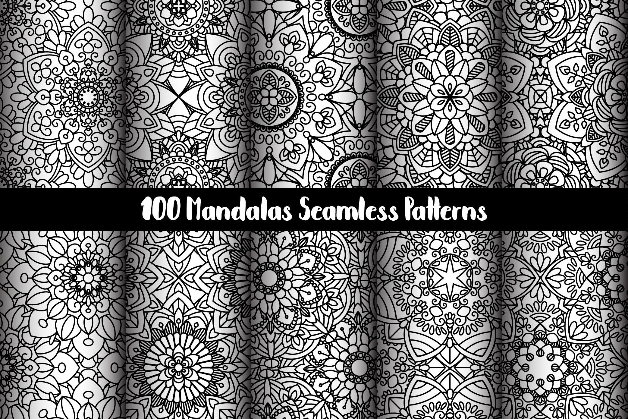 100 Mandalas Seamless Patterns example image 18