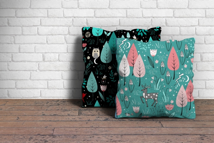 Forest bundle. 18 Seamless Patterns example image 5