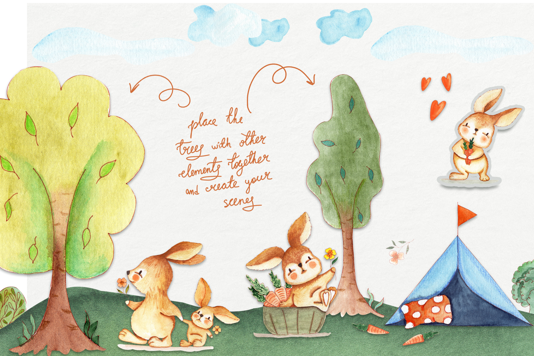 Bunny Camping Collection example image 3