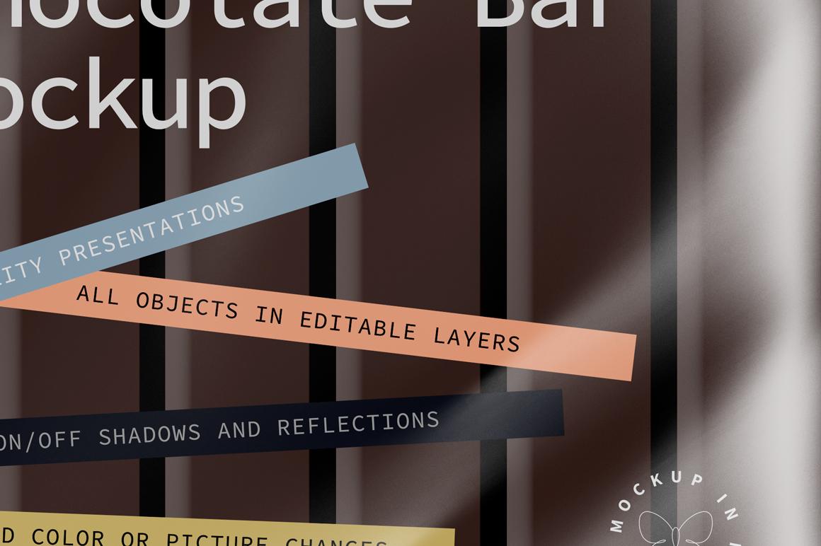 Transparent Square Chocolate Bar Mockup example image 2