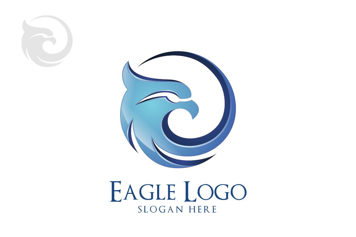 Eagle logo in circle, hawk , phoenix example image 3