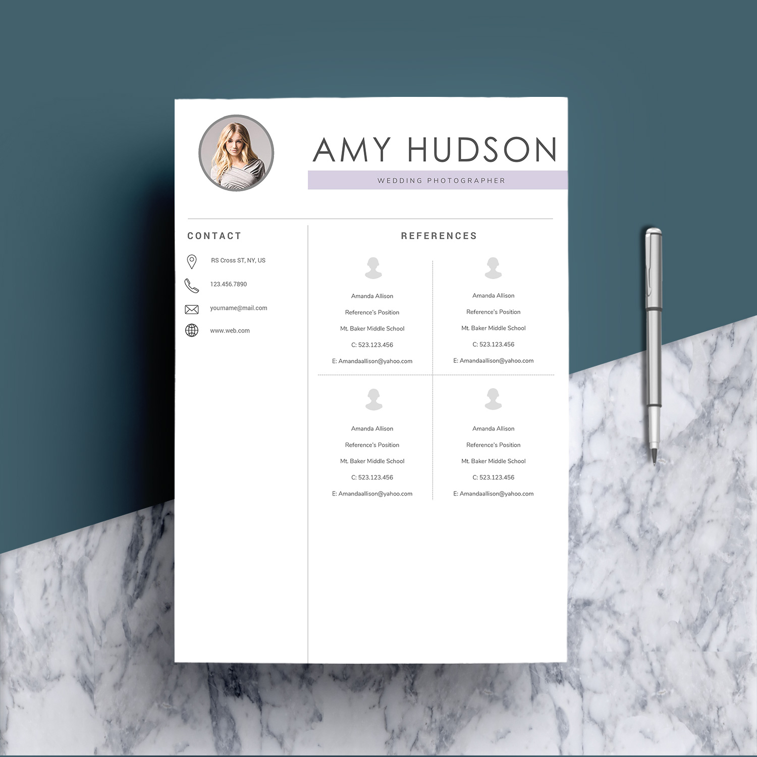 Professional Resume Template word example image 6