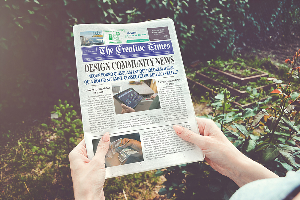 a4 Newspaper Mockups example image 3