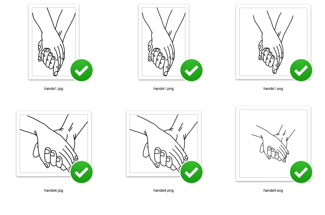 Holding Hand with love - SVG/JPG/PNG Hand Drawing example image 3