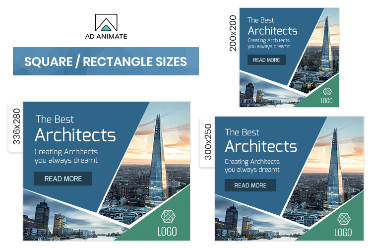 Architect Animated Ad Banner Template -PS002 example image 2