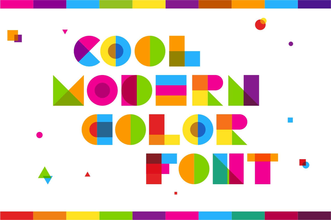 Garis Lengkung - Color Font example image 2