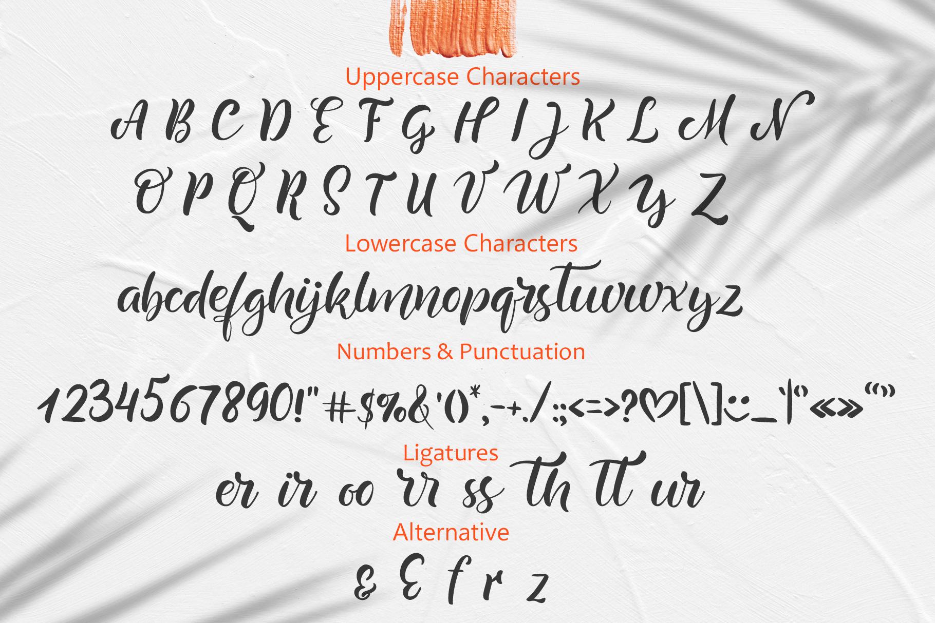 Summer Beach Handwriting Font example image 4