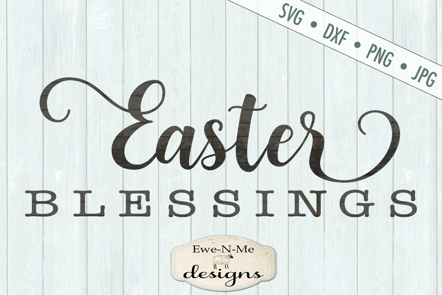 Easter Blessings SVG DXF Files example image 2