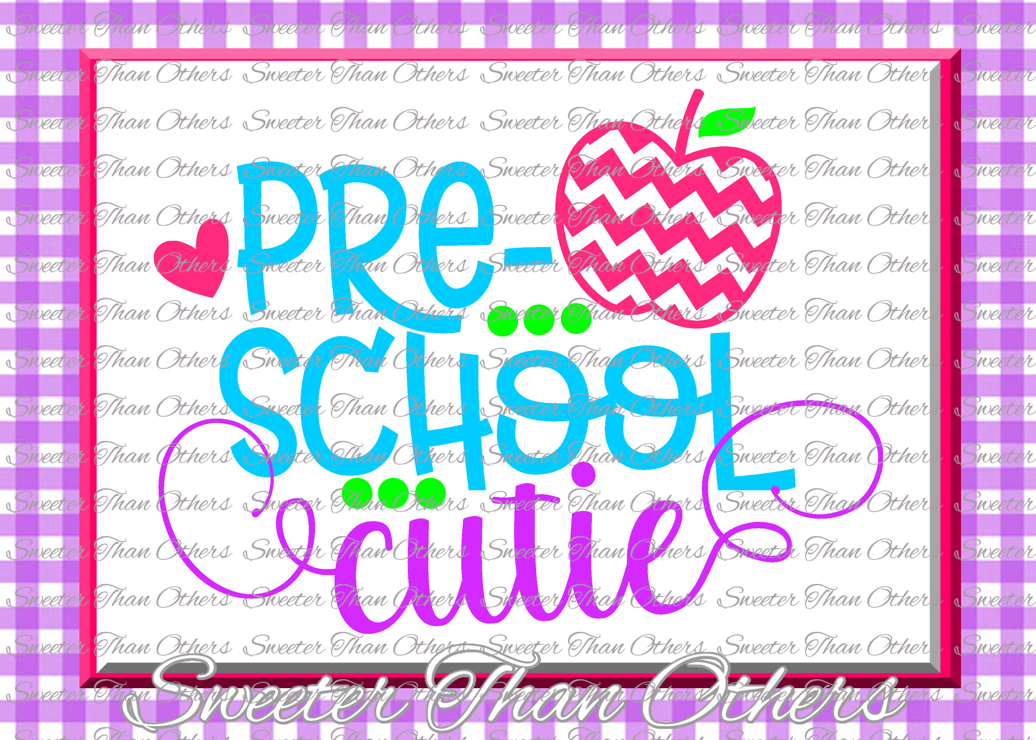 Preschool Cutie SVG Pre K Grade cut file Last Day example image 1